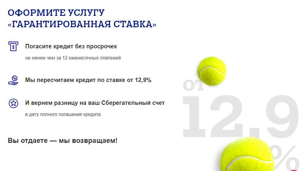 Услуга Гарантированная ставка от Почта банка