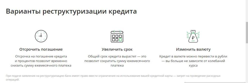 Варианты реструктуризации кредита в Сбербанке